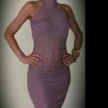 Плетена на една кука рокля