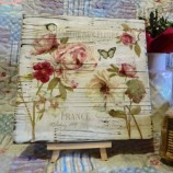 Дървено пано Френски рози