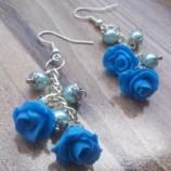 Обеци Сини рози