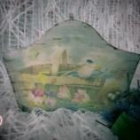 Мини кошничка с флорални мотиви
