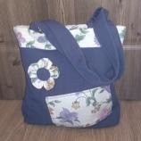 Ръчно изработена дамска чанта от плат