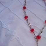 Колие с червени кристали