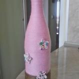 Ръчно декорирани вазички от бурканчета и шишета