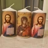 Свещи с декупаж