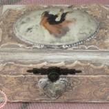 Дървена кутия Жакард