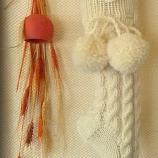 Вълнени ръчно плетени чорапи