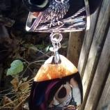 шал - колие с висулка от естествен камък
