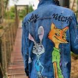 Ръчно рисувани дънкови якета Judy&Nick