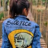 Ръчно рисувани дънкови якета Silence