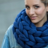 Безшевен шал - снуд, едра плетка