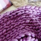 Мериносово одеяло- едро плетиво