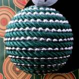 Коледна топка - зелена