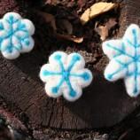 Коледни снежинки от филц