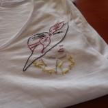 Памучна блуза с ръчна бродерия