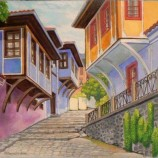 Стария Пловдив.Маслена картина.