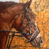 Картина с кон.Маслени бои върху платно.