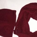 Дамски комплект шапка и шал снуд