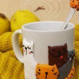 Чаша котета от полимерна глина