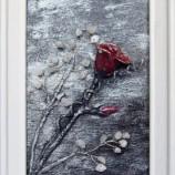 Пано с червена роза