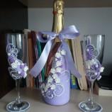 Комплект за сватба - чаши и шампанско