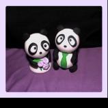Панда фигурки за торта от полимерна глина