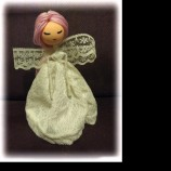 Ръчно изработена кукла фия / булка