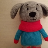 Куче плетено на една кука