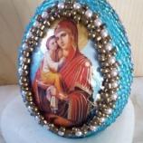 Великденски яйца с икони на Богородица