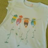 Тениска Птички на жица # Т-00002