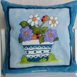 Декоративна ръчно рисувана калъфка за възглавница 40 х 40 см