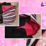 Уникална чанта  плетиво и еко кожа