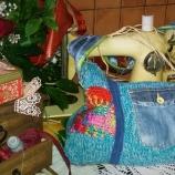 Свежа плетена чанта