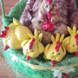 Украса за Великден - кокошка с пиленца