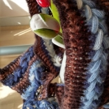 Оригинално и ефектно, уникат hoody - плетена качулка шал