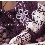 Плетена чанта с дантели