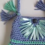 Плетена плажна чанта