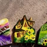 Дървена къщичка за декорация, или окачалка за ключове