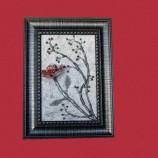 пано с червено цвете