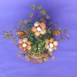 саксийка с цветя от карнеол
