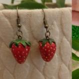 Обеци ягоди от полимерна глина обици