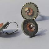 Комплект от пръстен и обеци,,Simply gray,,