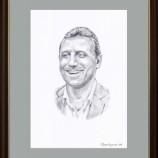 Портрет на Христо Стоичков.Молив върху хартия.