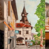 Часовника в Пазарджик.Маслена картина.