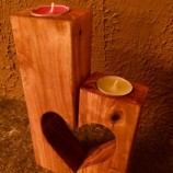 Интериорен, ръчно изработен свещник