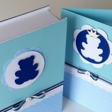 Кутия с картичка за подарък  - мече