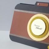 Картичка за юбилей или рожден ден - фотоапарат