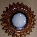 сувенир дърворезба слънце лампа  за таван или стена   0879867766