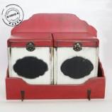 Винтидж етажерка с две кутии