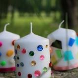 Свещи с декоративни камъчета