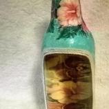 Декорирана бутилка бяло вино